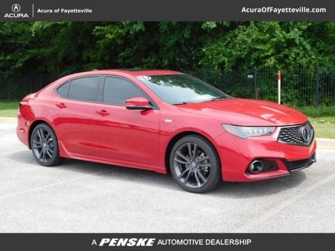 New 2019 Acura TLX FWD A-Spec Red